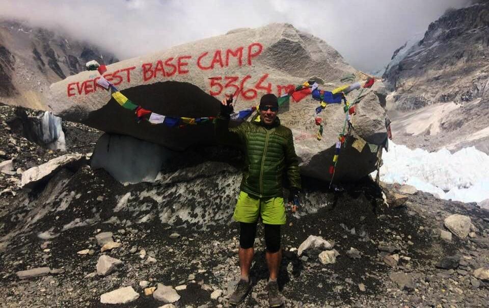 Manuel Ruiz en el campo base del Everest