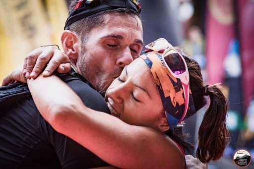 Sandra Yagüe y Rodri Ladera en la Vuelta al Aneto