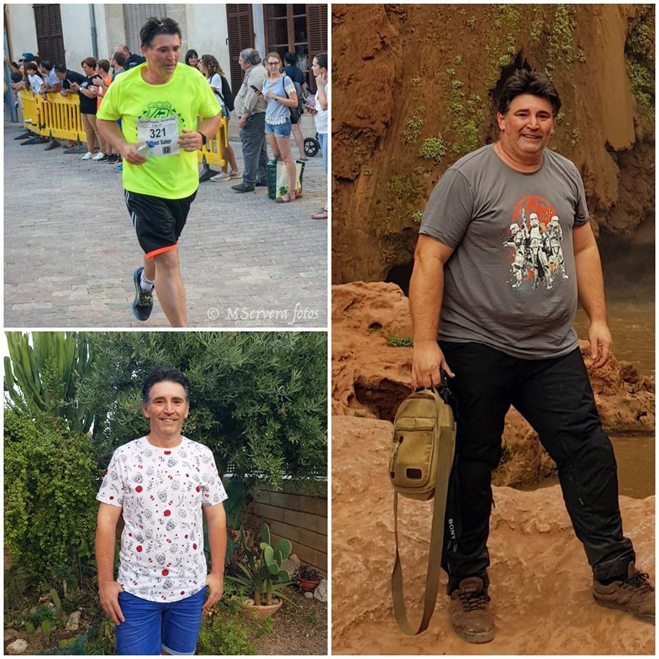 La fotografía de la derecha octubre 2018,las otras 2 una el 20 junio mi primer dorsal 5km carrera popular en mi pueblo, asfalto y hoy de paseo (Gabriel Suñer)