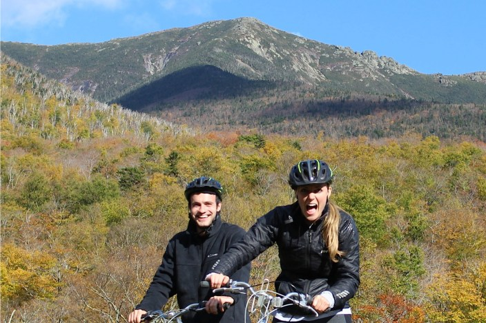 biking Franconia notch