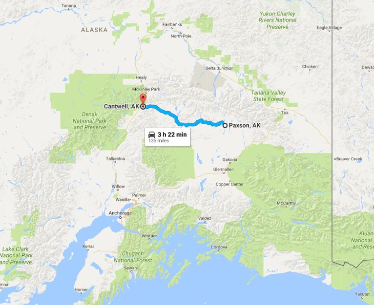 Denali Highway Map