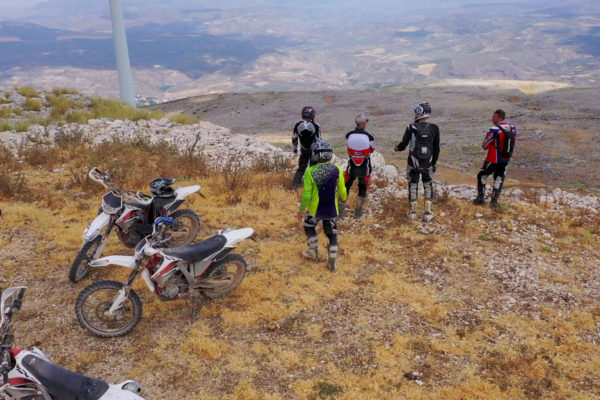 Stunning views on our trail bike motocross tours