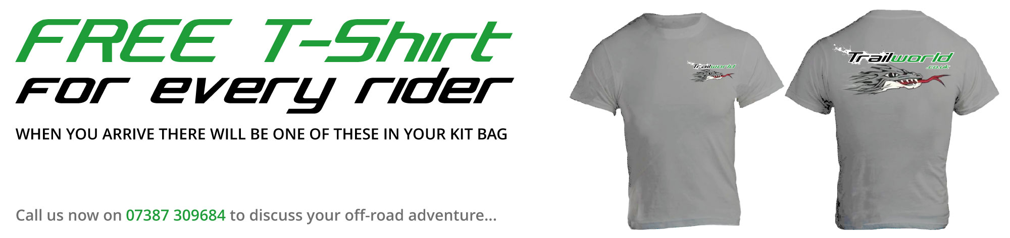 FREE Cotton T-Shirt for every rider