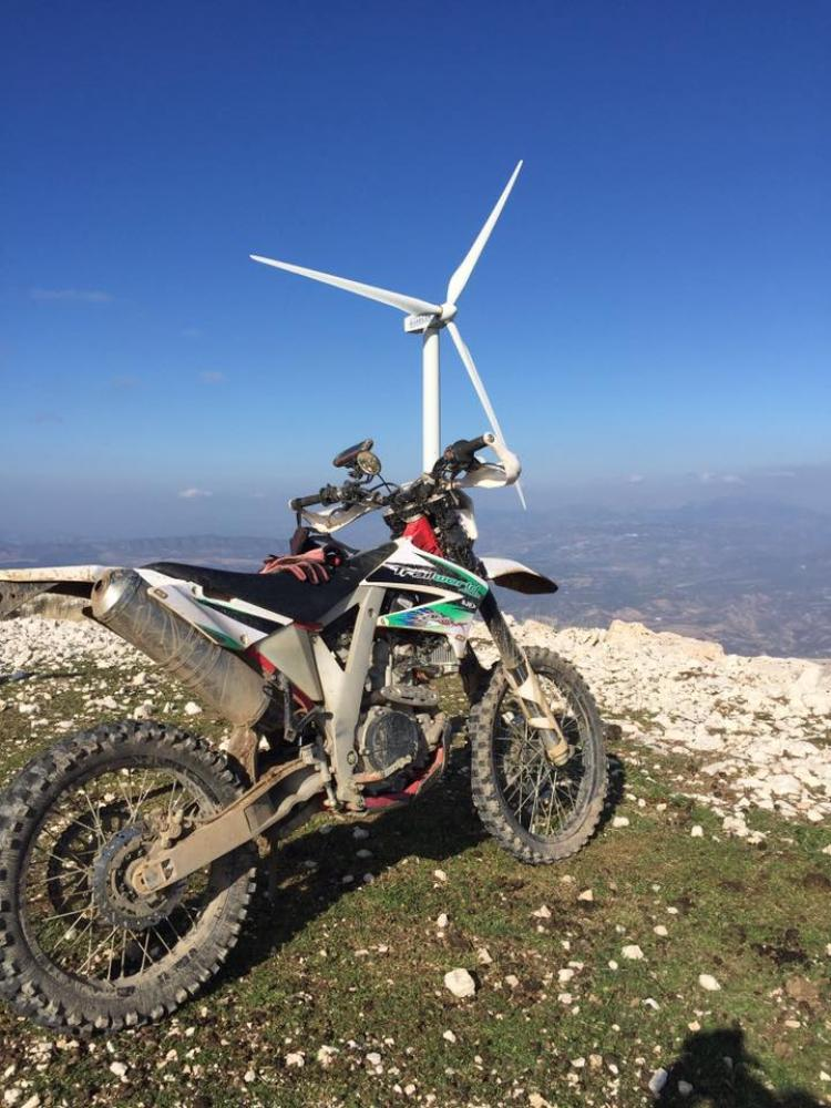 Scenic trail riding with our off-road motorcycle tour up to the Windmills in Loja