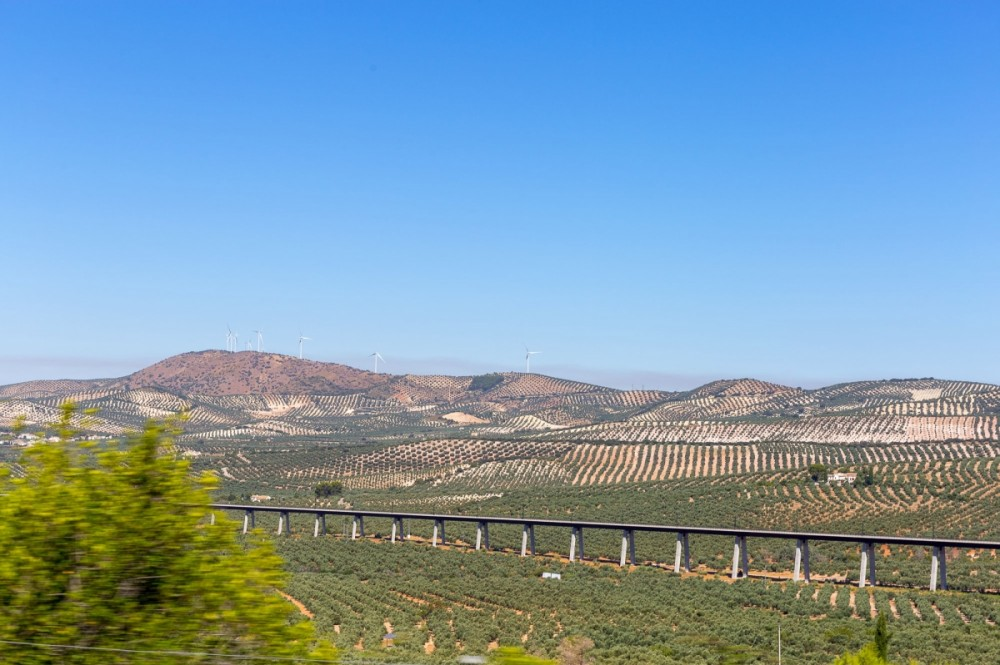 Ride your mx bikes across fields and under the railway line to reach Antequera