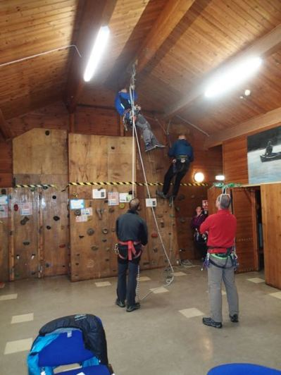 Ladder and abseil practice