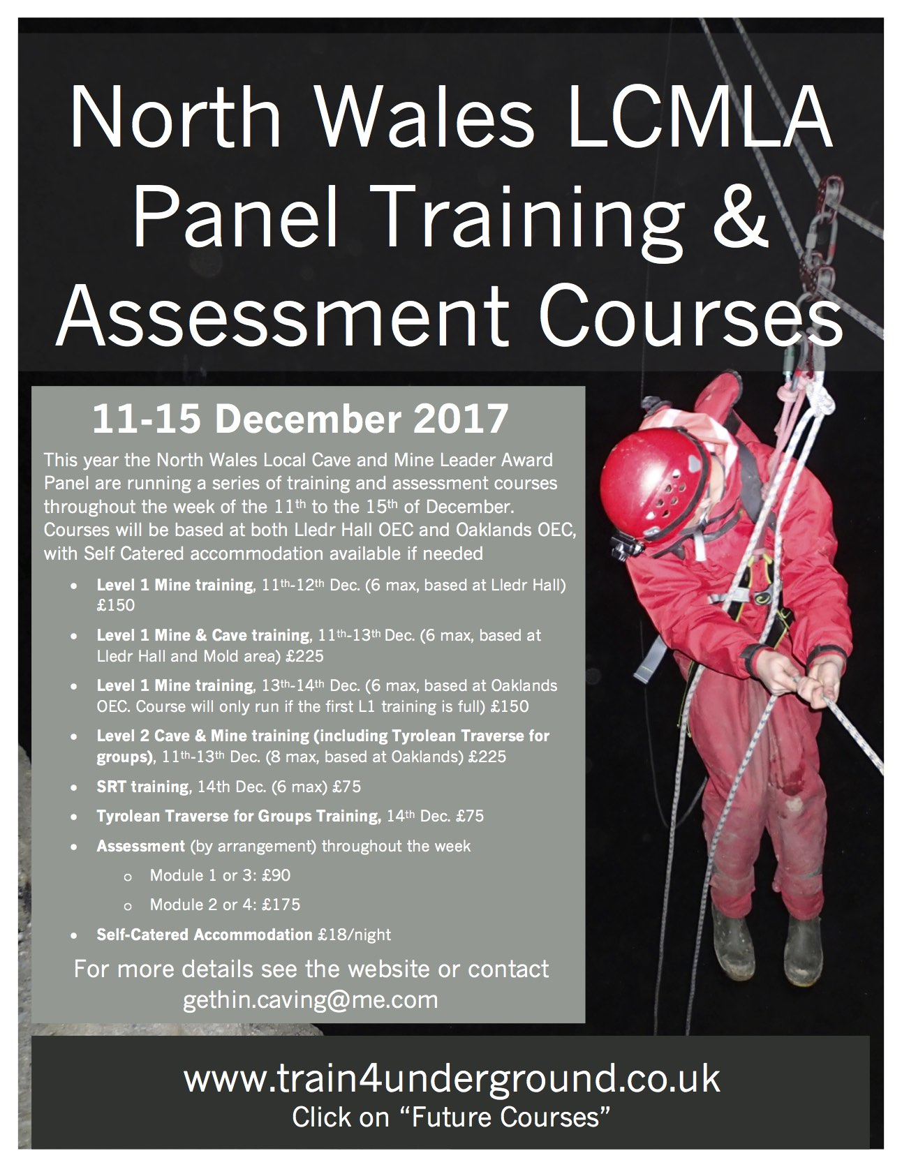 North Wales Panel Courses; 11th-15th December 2017