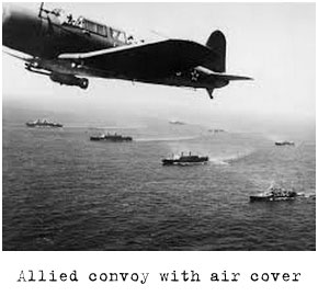Allied-convoy-with-air-cover