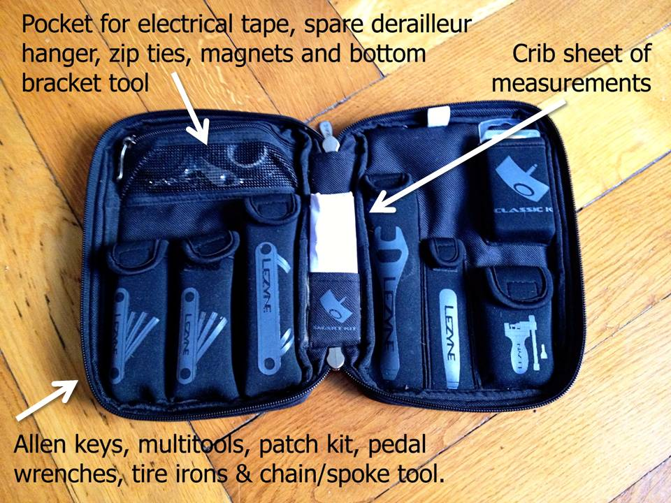 The Lezyne Port-A-Shop: my go-to tool kit on the road.