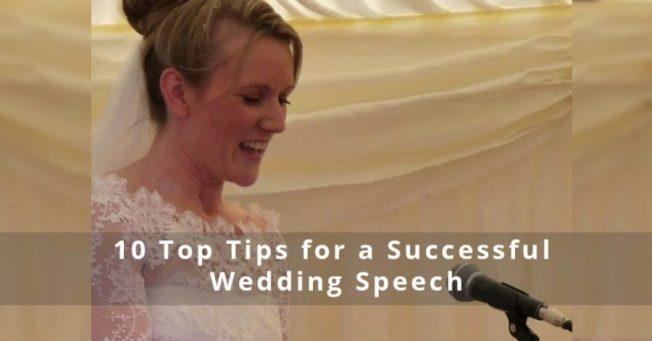 top tips for wedding speech