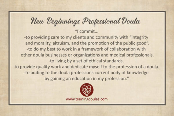Professional Doula Commitment