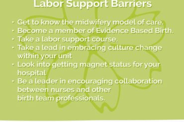 Nursing Support During Labor-How to Overcome Barriers