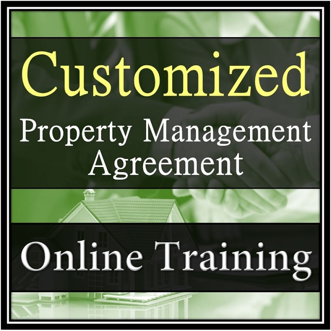 Customized Property Management Agreement Training from Training Property Managers Robert Locke Crown