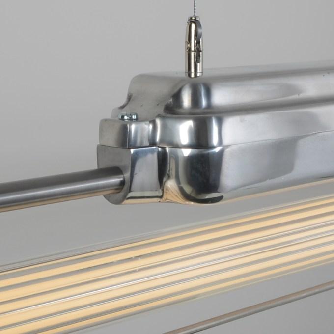 trainspotters lighting ddr strip pendant polished reeded