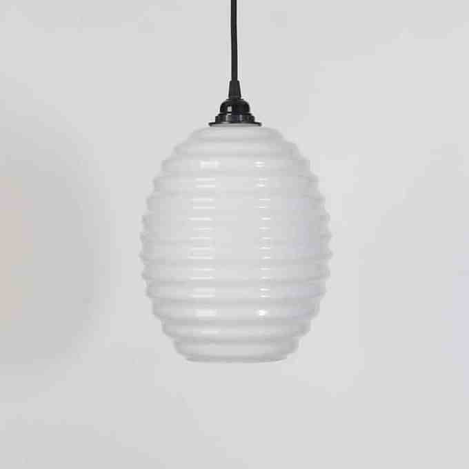 trainspotters lighting opaline beehive pendant