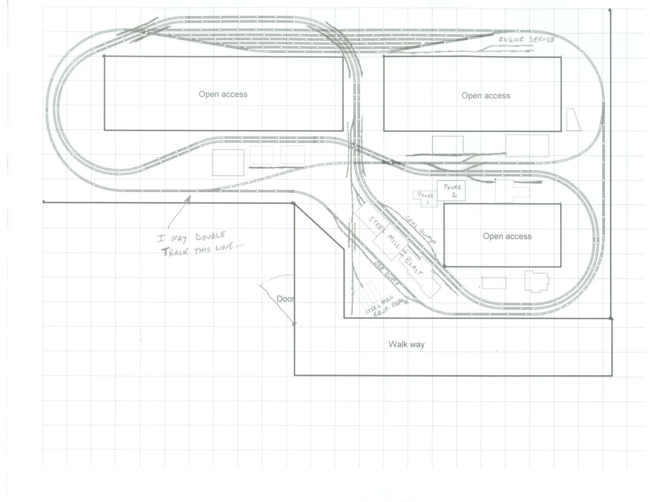 A New Layout Is Under Construction And The New Track Plan