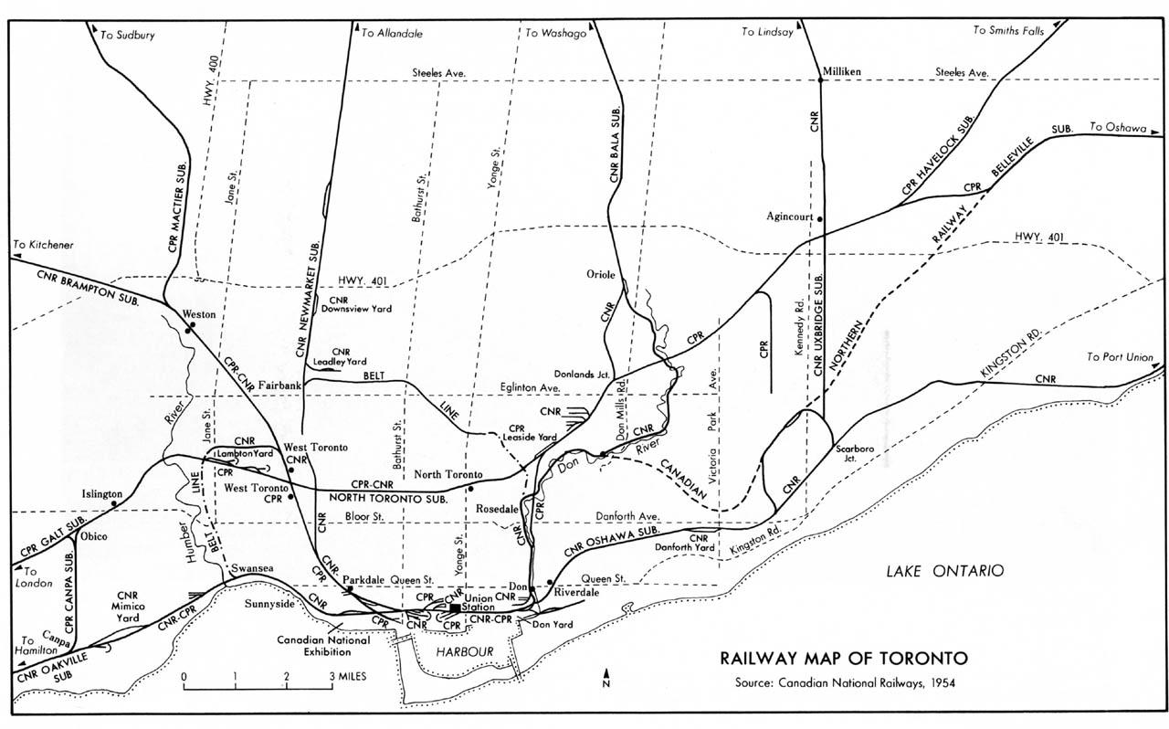 Toronto Train Map