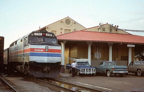 Amtrak Inter American At Laredo Station September 1978
