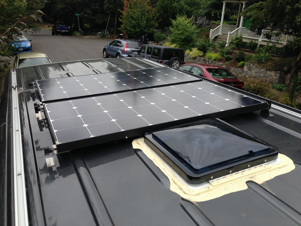 how to install solar panels on a camper van