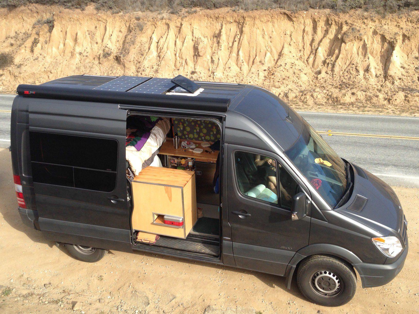 The Adventure Mobile Our Diy Sprinter Camper Van Bicycle