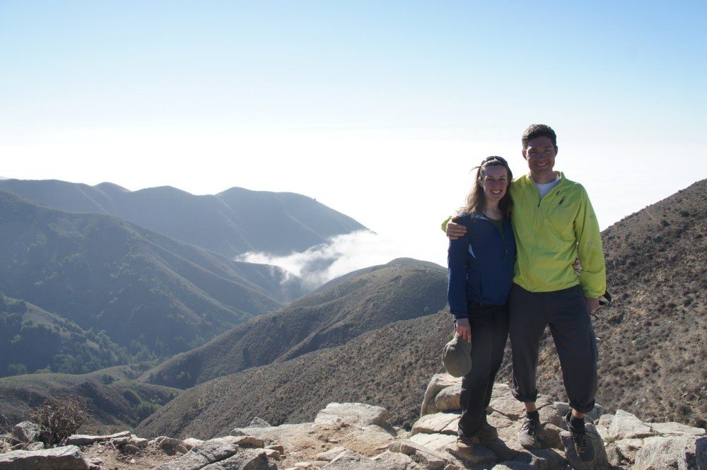 Enjoying the vista at the top of Soberanes, an amazing (and hard) hike at the northern tip of Big Sur.