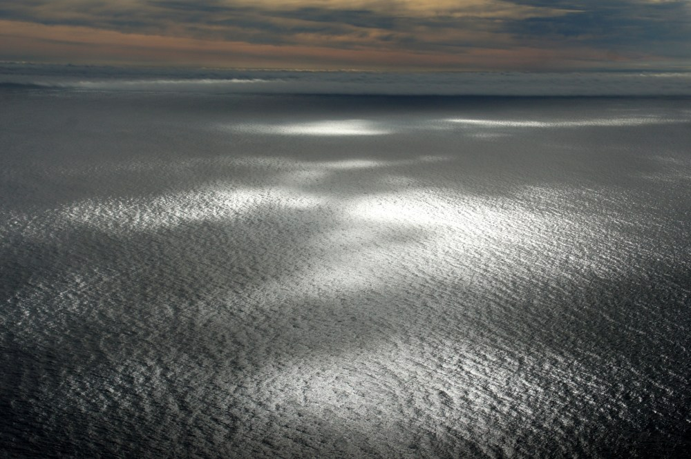 Sun spots on the Pacific.