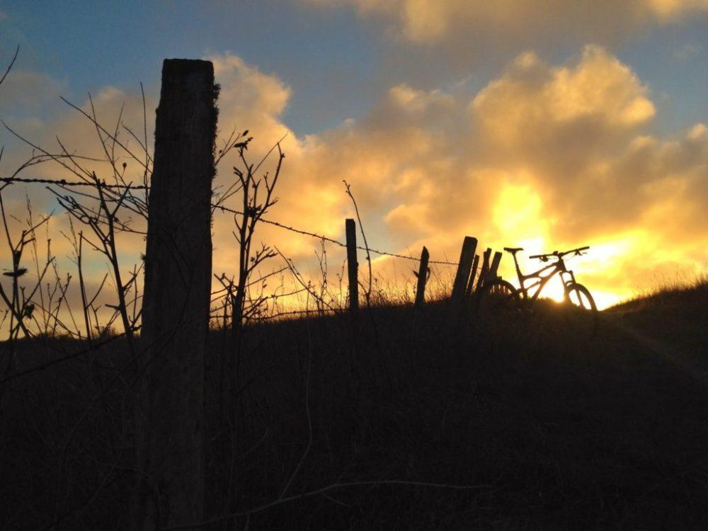 Sunset ride at Wilder Ranch north of Santa Cruz.