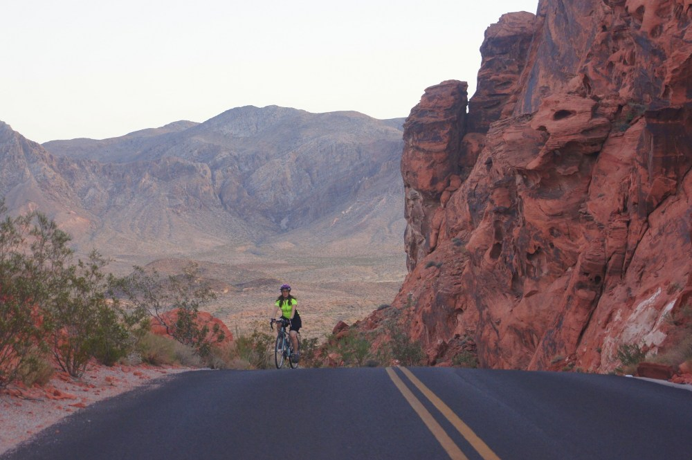 A sunset ride in the Valley of Fire State Park (Nevada).