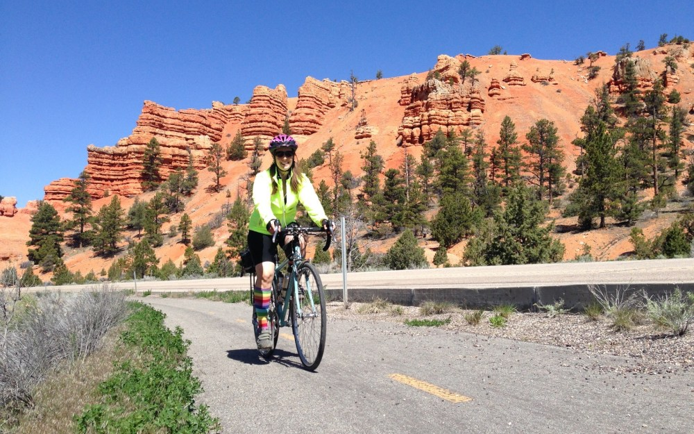 Cruising the most-excellent trail in Dixie Canyon near Bryce Canyon National Park.