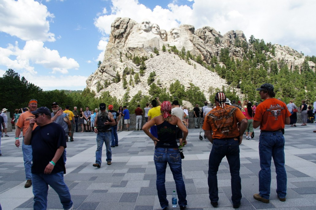 "I can only call this shot ""Mt. Rushmore and Bikers."""