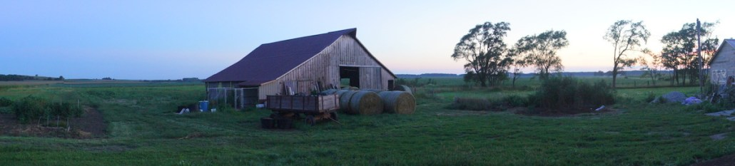 The old homestead at sunset.