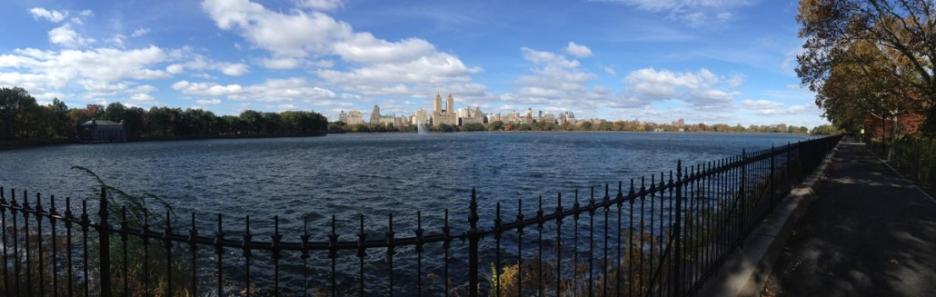 Enjoying a walk in Central Park.