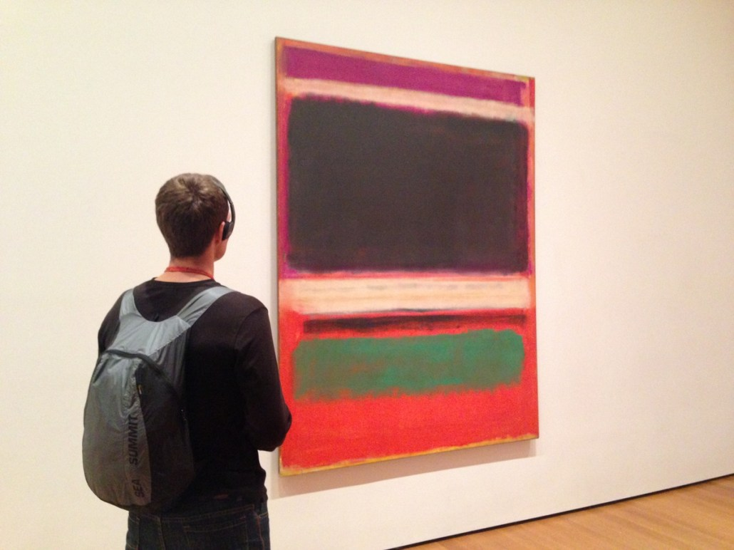 Mainlining culture in MOMA in front of a Rothko piece.