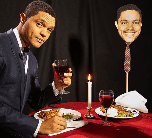 Trevor Noah goes on a romantic Valentine's Day date with himself.