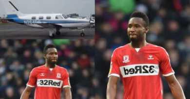 John Obi Mikel escapes plane crash with Middlesbrough player