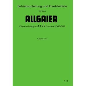 Allgaier Traktor A122 A 122 Betriebsanleitung Ersatzteilliste