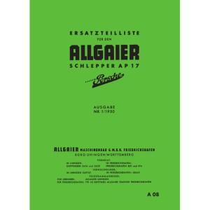 Allgaier Traktor AP 17 AP17 Ersatzteilliste