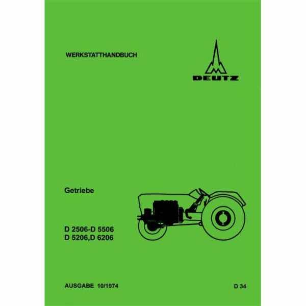 Deutz Getriebe D2506 D5506 D5206 D6206