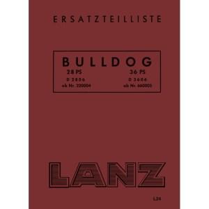 Lanz-Buldog Ersatzteilliste D-2806 D-3606 28-PS 36-PS