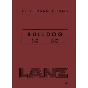 Lanz-Bulldog Betriebsanleitung D-1706 D-2206 17-PS 22-PS