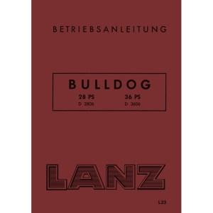 Lanz-Bulldog Betriebsanleitung D-2806 D-3606 28-PS 36-PS