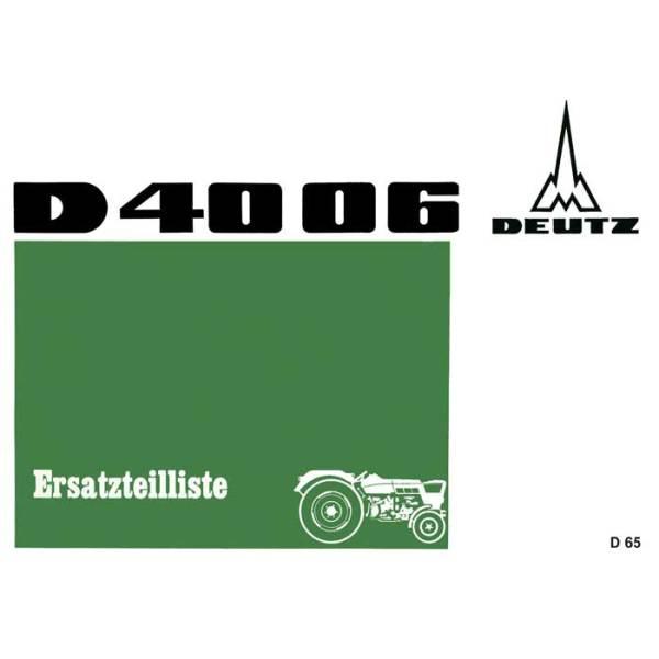 Deutz D4006 Ersatzteilliste