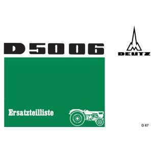 Deutz D5006 Ersatzteilliste