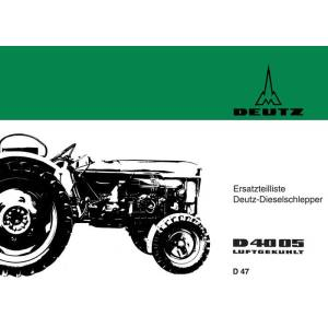 Deutz Ersatzteilliste D4005