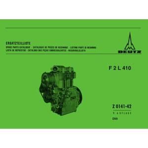 Deutz Ersatzteilliste F2L 410