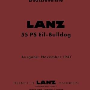 Lanz-Bulldog Ersatzteilliste 55-PS Eil-Bulldog Traktor