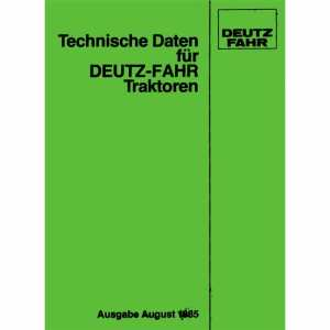 Technische Daten Deutz Traktoren