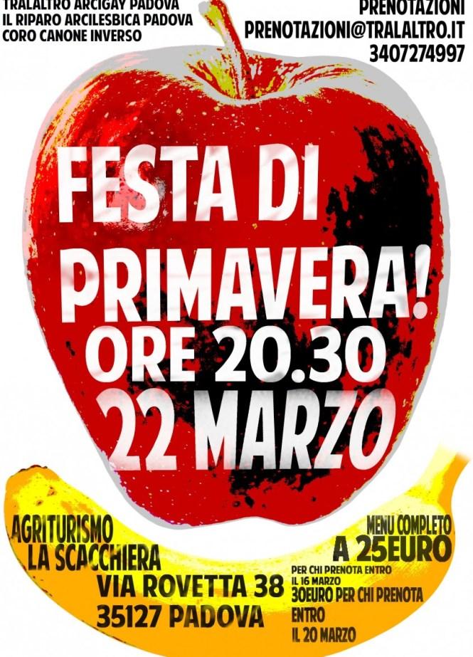 festa di primavera 22marzo ore 20.30