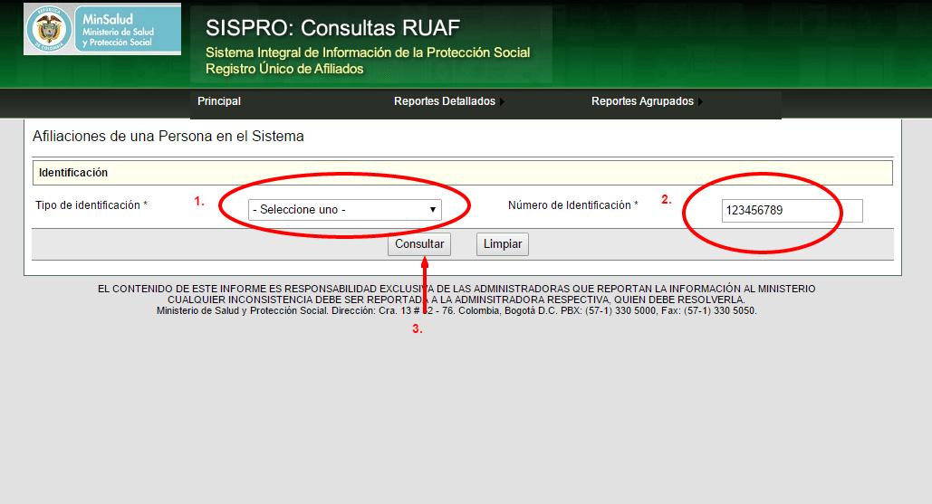 RUAF SISPRO consultas