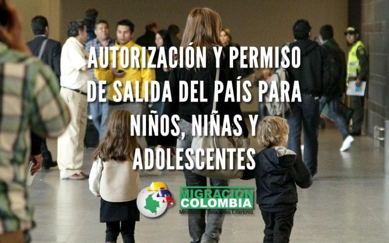 permiso para menos de edad para salir del país en Colombia